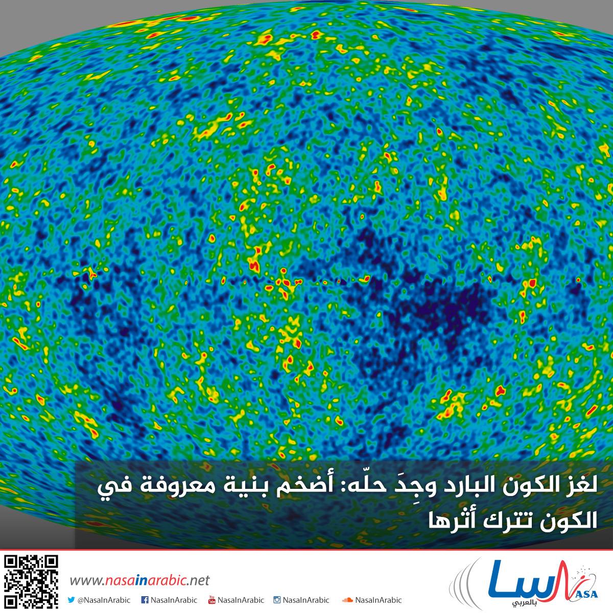 لغز الكون البارد وجِدَ حلّه: أضخم بنية معروفة في الكون تترك أثرها