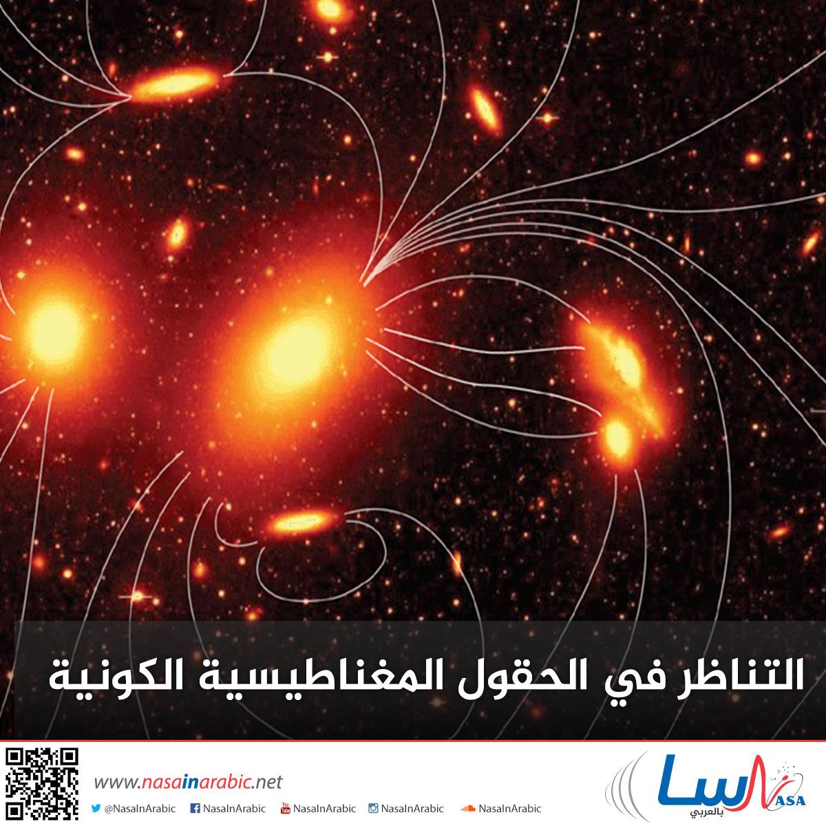 التناظر في الحقول المغناطيسية الكونية
