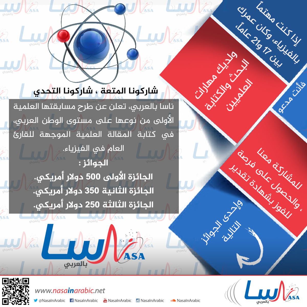 مسابقة ناسا بالعربي لكتابة المقالة العلمية في مجال الفيزياء لعام ٢٠١٦