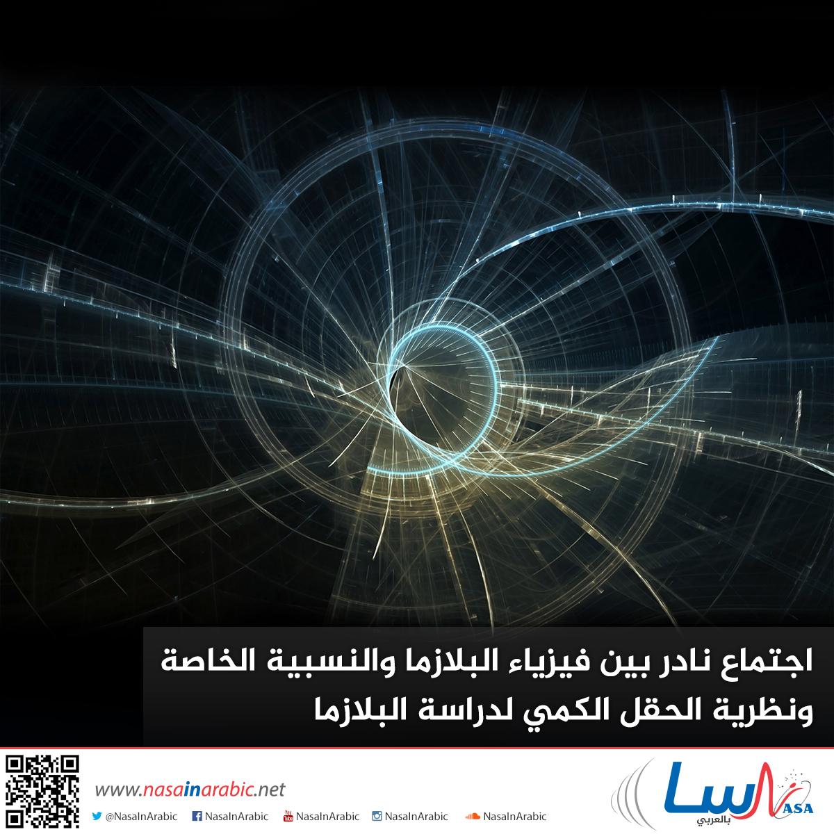 اجتماع نادر بين فيزياء البلازما والنسبية الخاصة ونظرية الحقل الكمي لدراسة البلازما