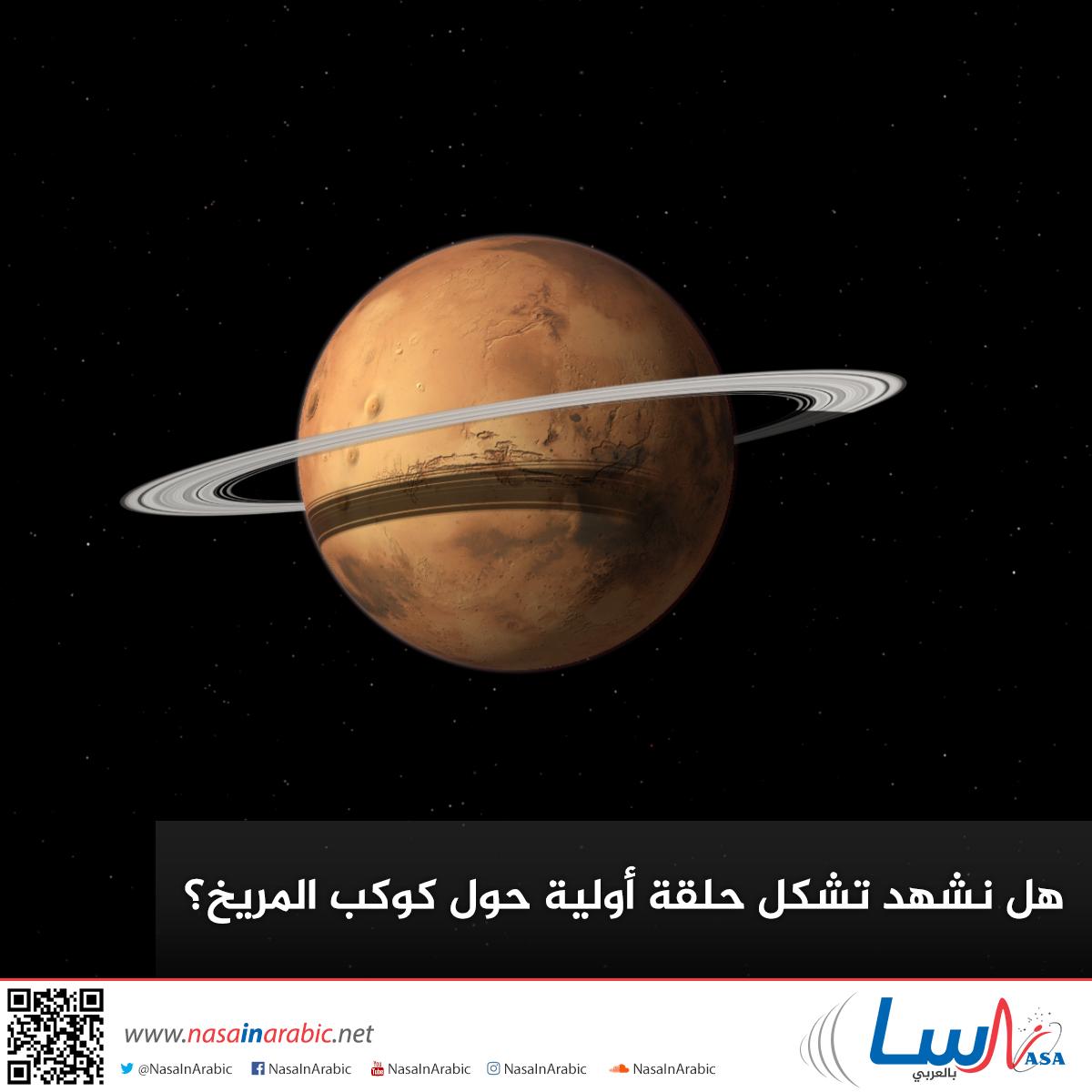 هل نشهد تشكل حلقة أولية حول كوكب المريخ؟