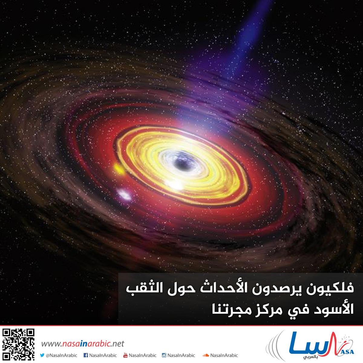 فلكيون يرصدون الأحداث حول الثقب الأسود في مركز مجرتنا