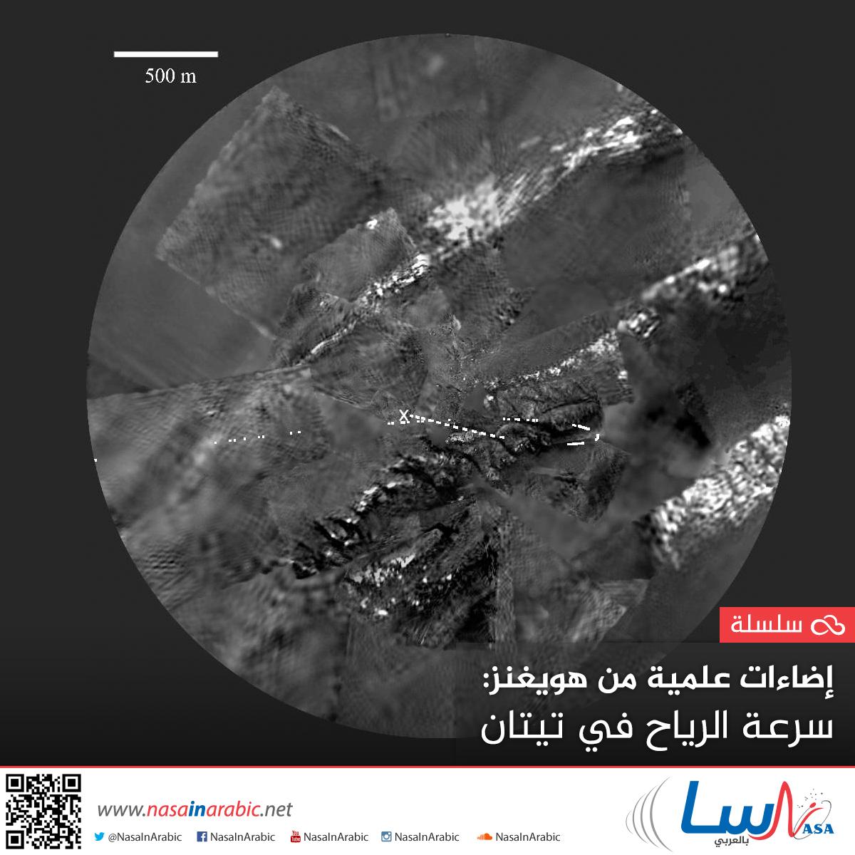 إضاءات علمية من هويغنز: سرعة الرياح في تيتان