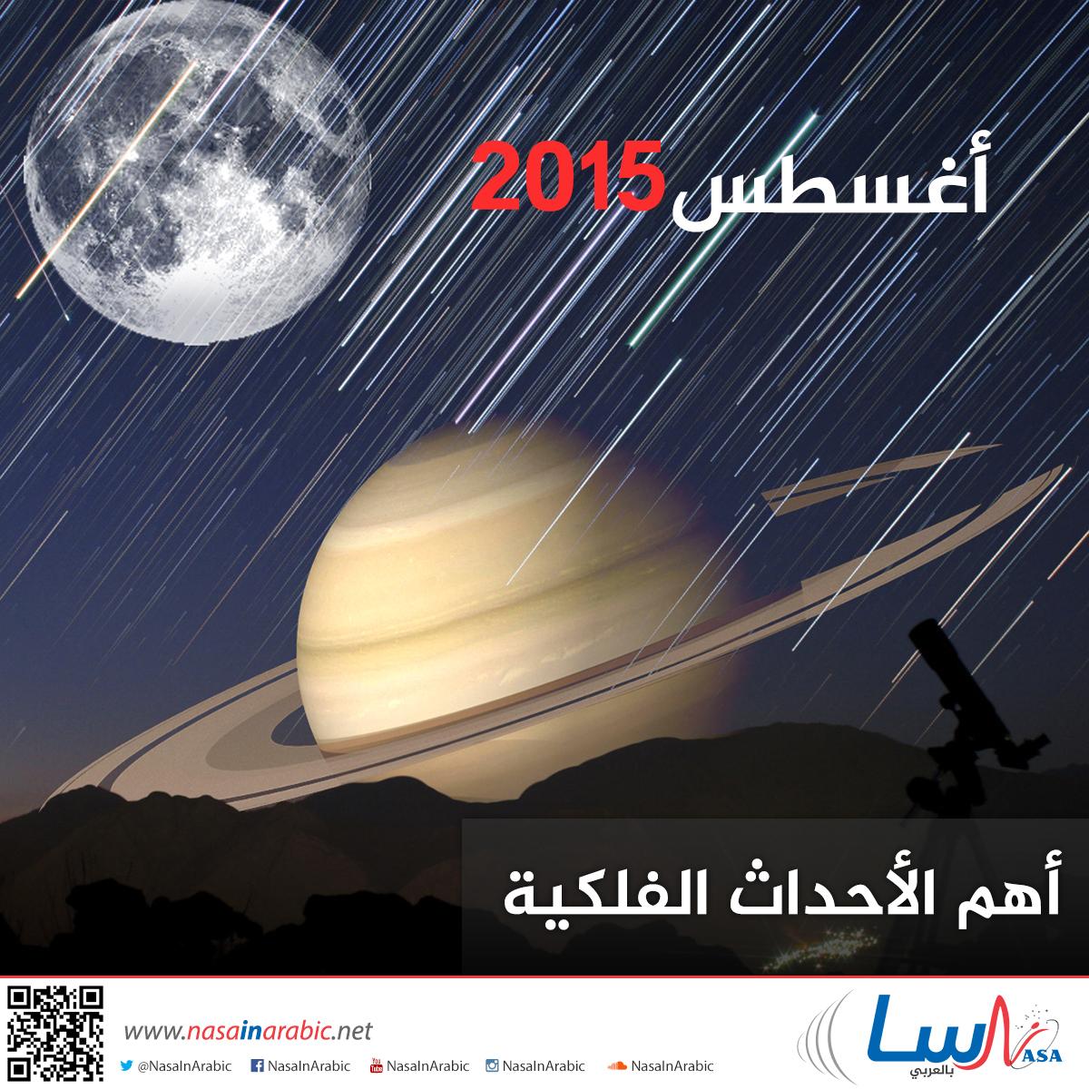أهم الأحداث الفلكية خلال شهر آب/أغسطس 2015