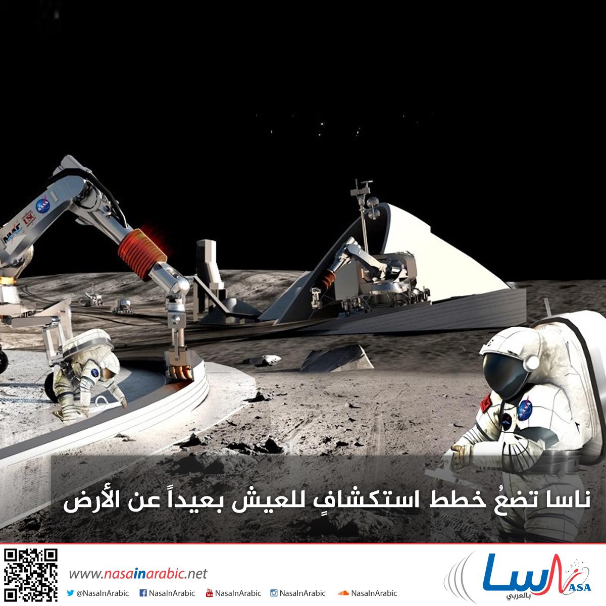 ناسا تضعُ خطط استكشافٍ للعيش بعيداً عن الأرض