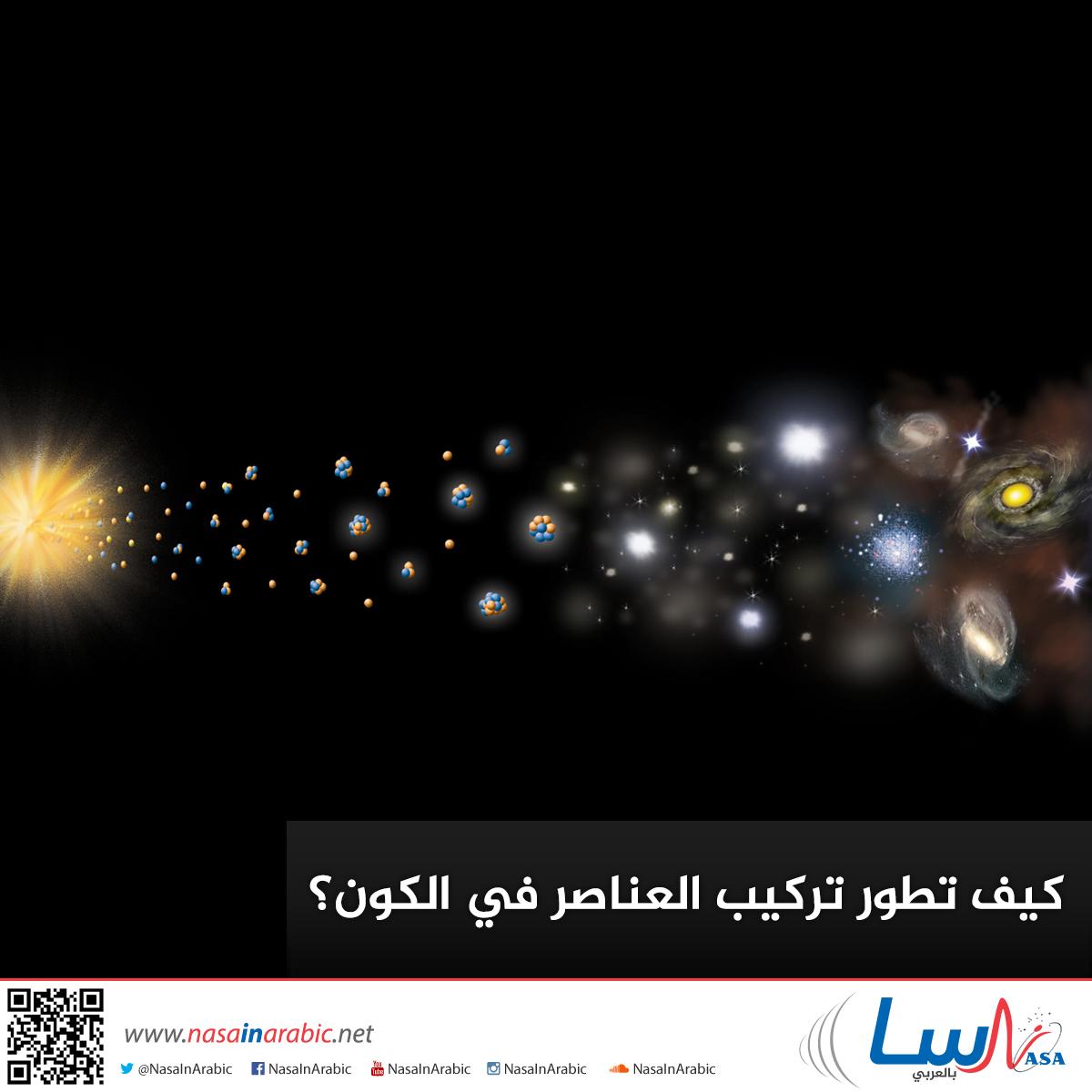 كيف تطور تركيب العناصر في الكون؟