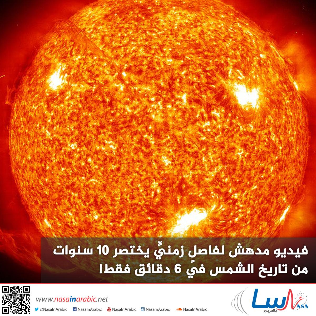فيديو مدهش لفاصلٍ زمنيٍّ يختصر 10 سنوات من تاريخ الشمس في 6 دقائق فقط!
