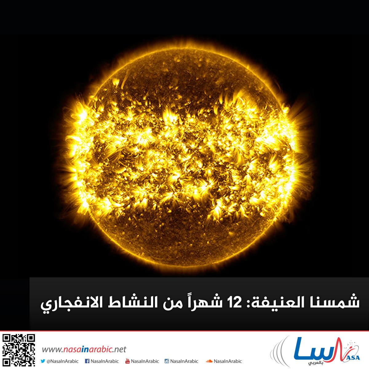 شمسنا العنيفة: 12 شهراً من النشاط الانفجاري