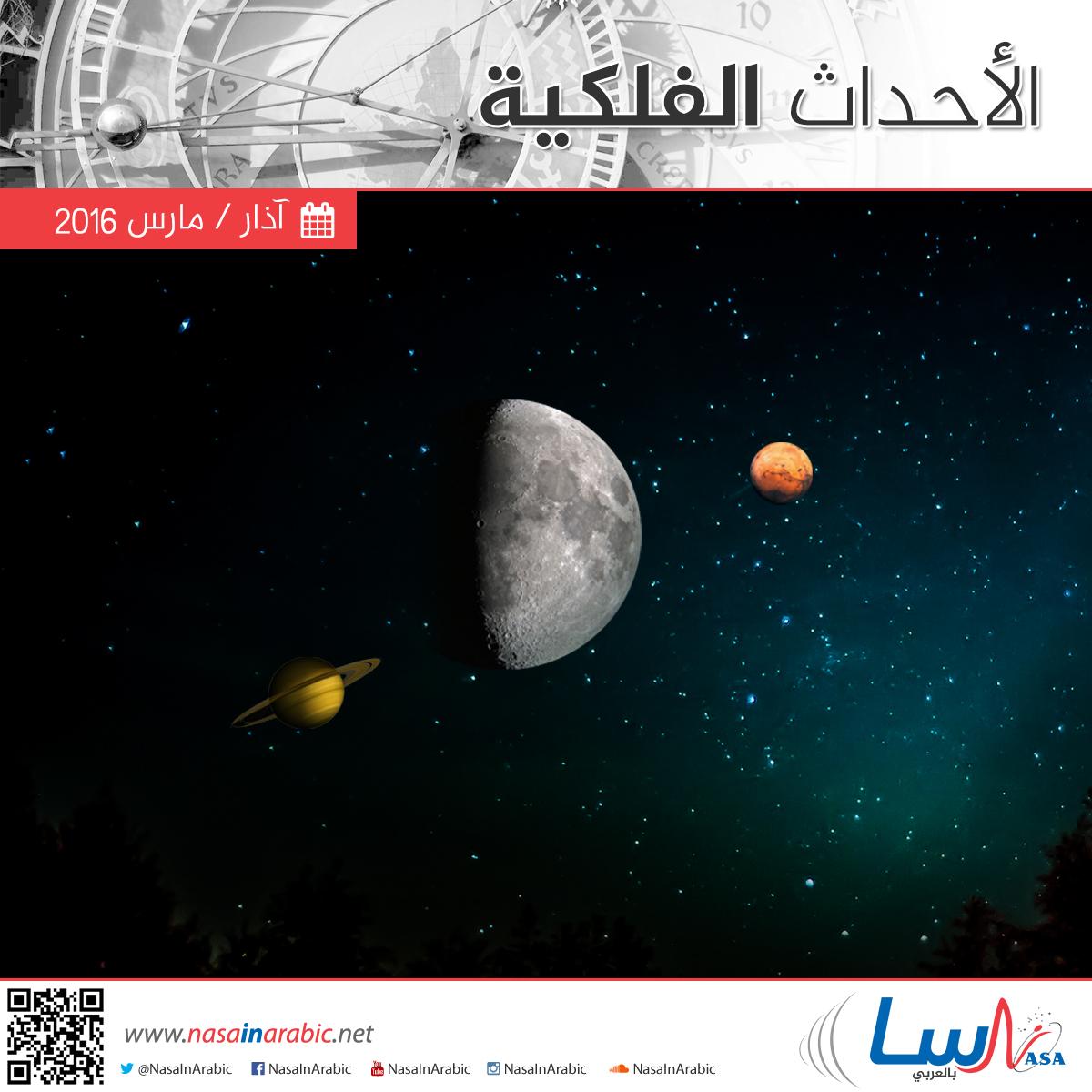 أهم الأحداث الفلكية خلال شهر آذار/مارس 2016