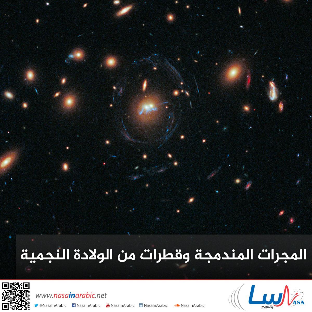 المجرات المندمجة وقطرات من الولادة النجمية