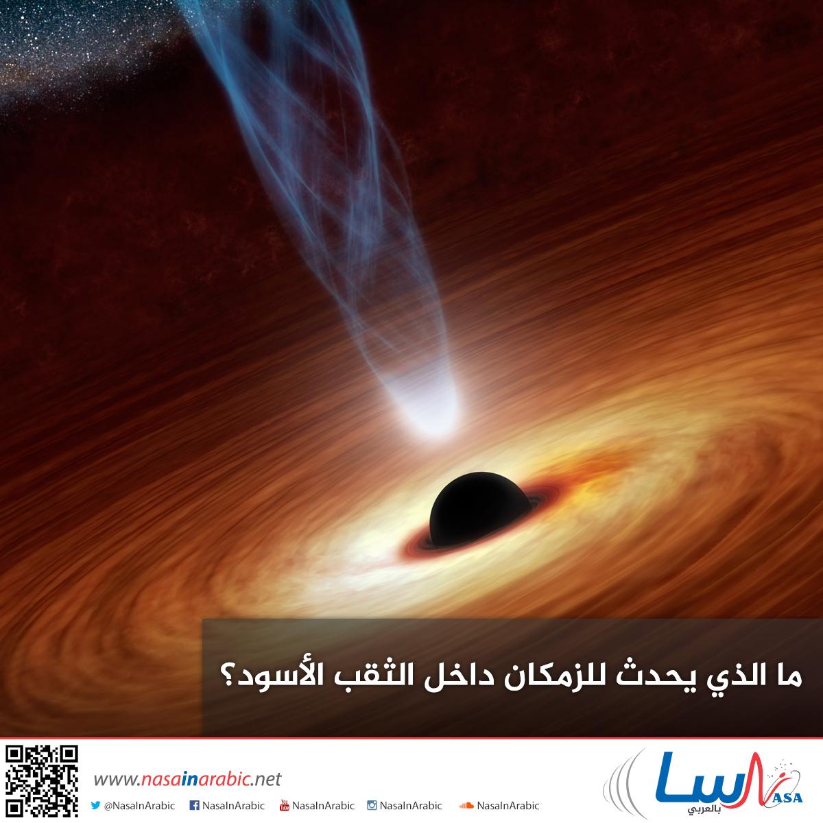 ما الذي يحدث للزمكان داخل الثقب الأسود؟
