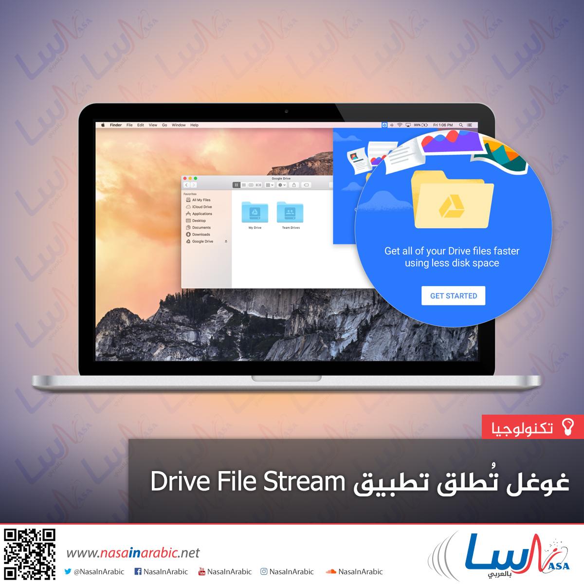 غوغل تُطلق تطبيق Drive File Stream