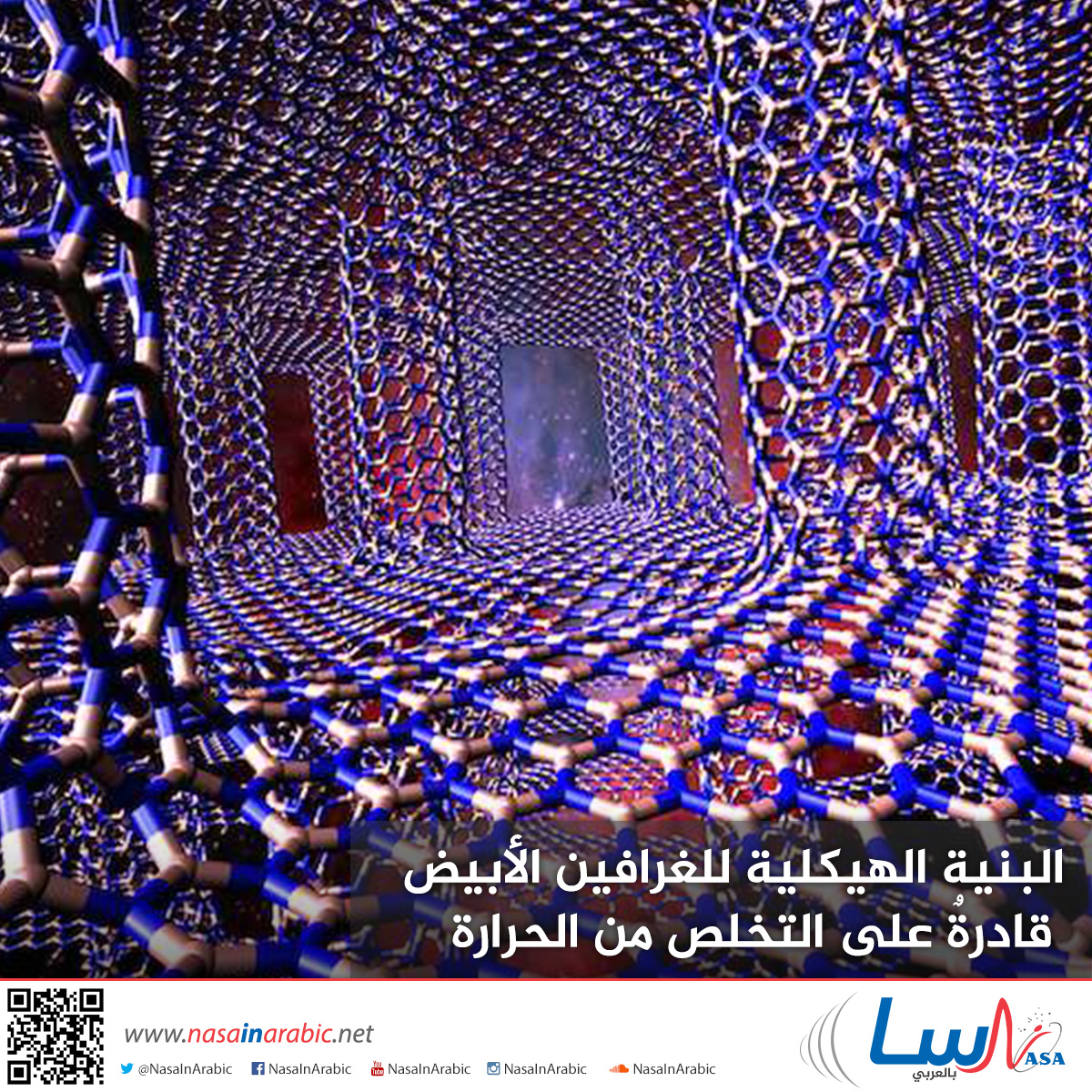 البنية الهيكلية للغرافين الأبيض قادرةٌ على التخلص من الحرارة