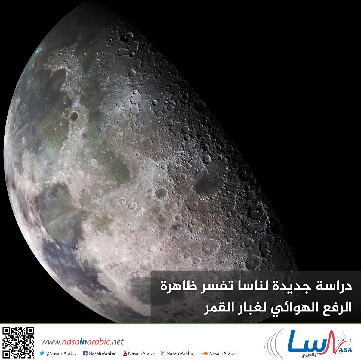 دراسة جديدة لناسا تفسر ظاهرة الرفع الهوائي لغبار القمر