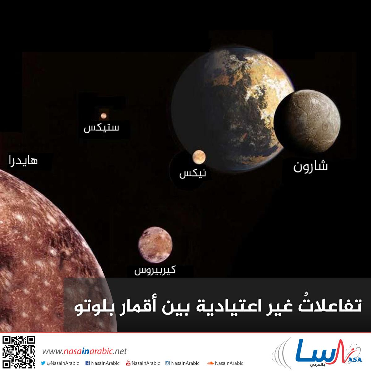 تفاعلاتٌ غير اعتيادية بين أقمار بلوتو