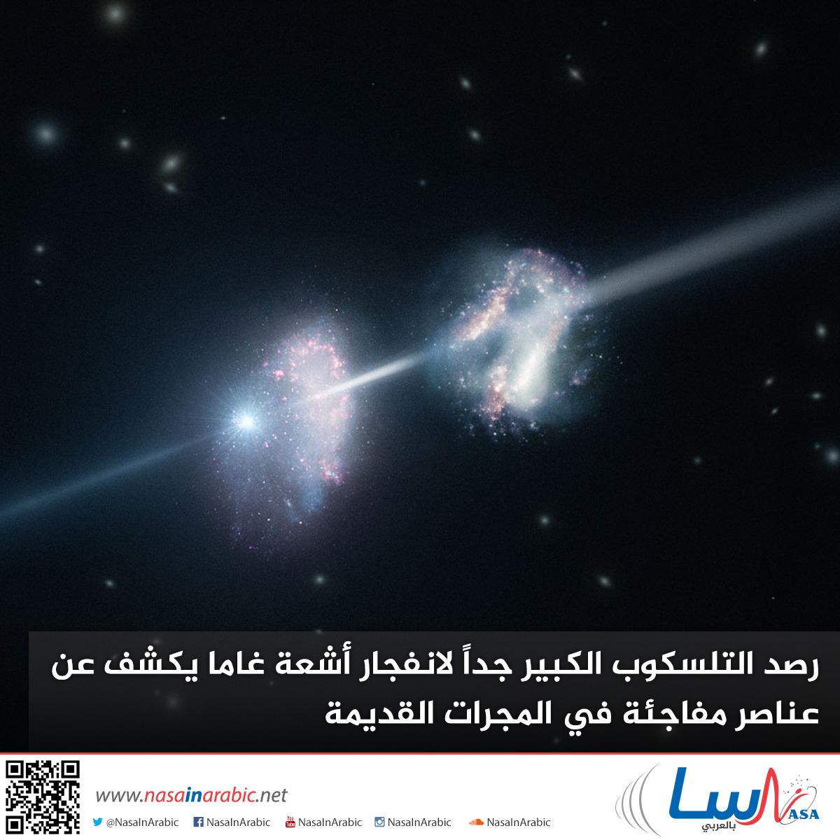 رصد التلسكوب الكبير جداً لانفجار أشعة غاما يكشف عن عناصر مفاجئة في المجرات القديمة