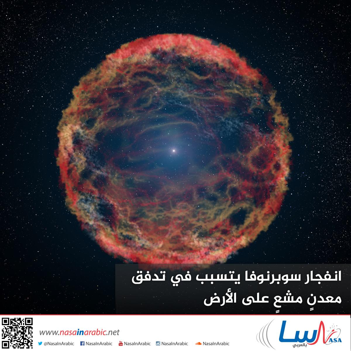 انفجار سوبرنوفا يتسبب في تدفق معدنٍ مشعٍ على الأرض