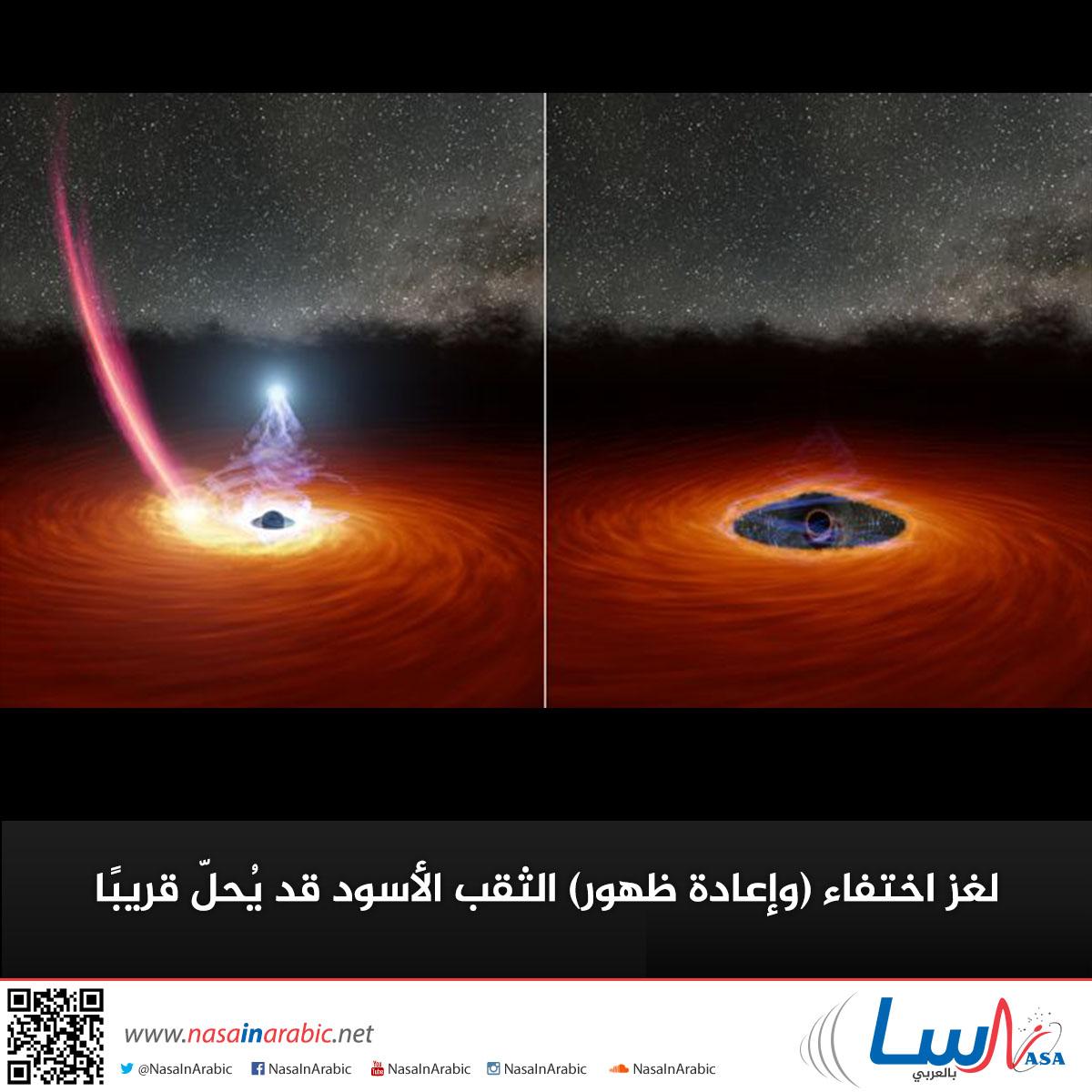 لغز اختفاء (وإعادة ظهور) ثقب أسود قد يُحلّ قريبًا