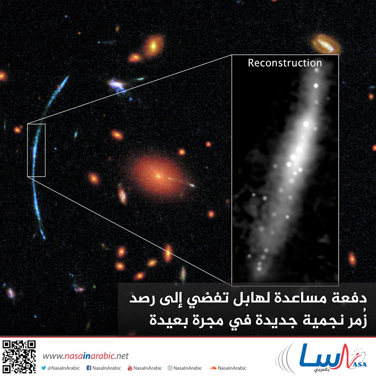 دفعة مساعدة لهابل تفضي إلى رصد زُمر نجمية جديدة في مجرة بعيدة