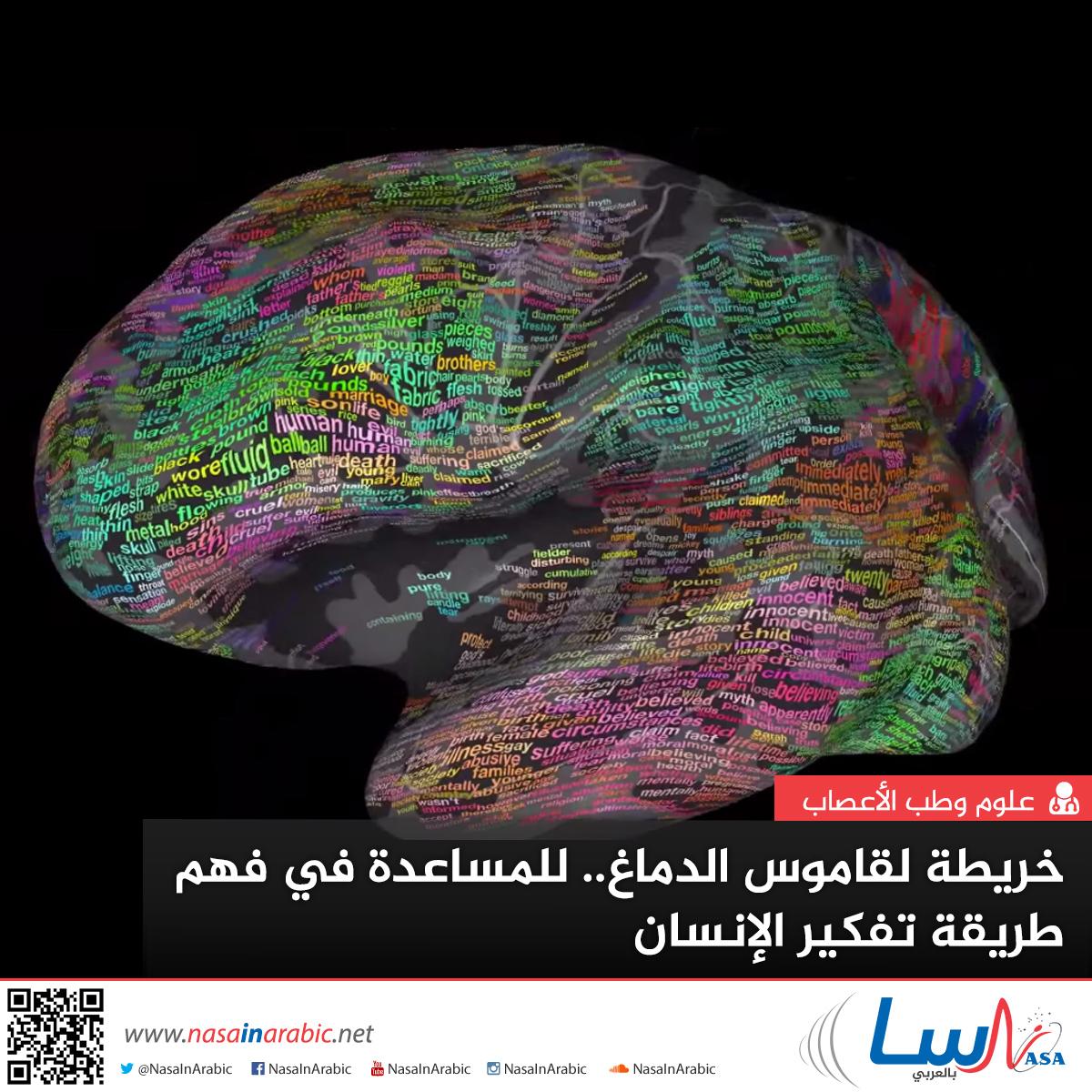 خريطة لقاموس الدماغ للمساعدة في فهم طريقة تفكير الإنسان