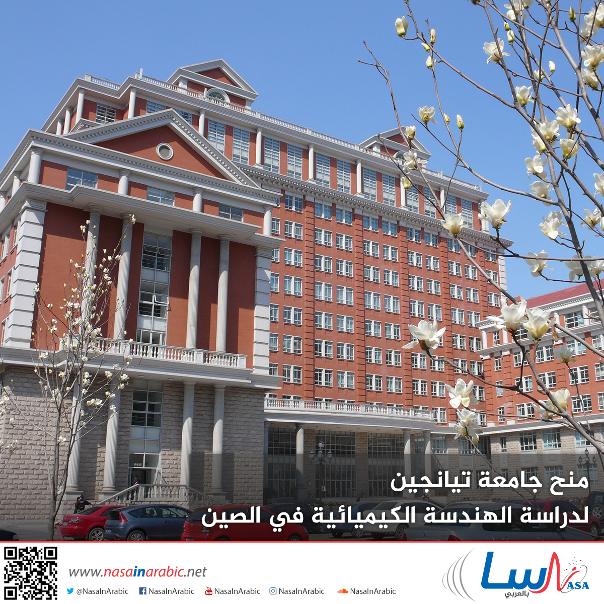 منح جامعة تيانجين لدراسة الهندسة الكيميائية في الصين