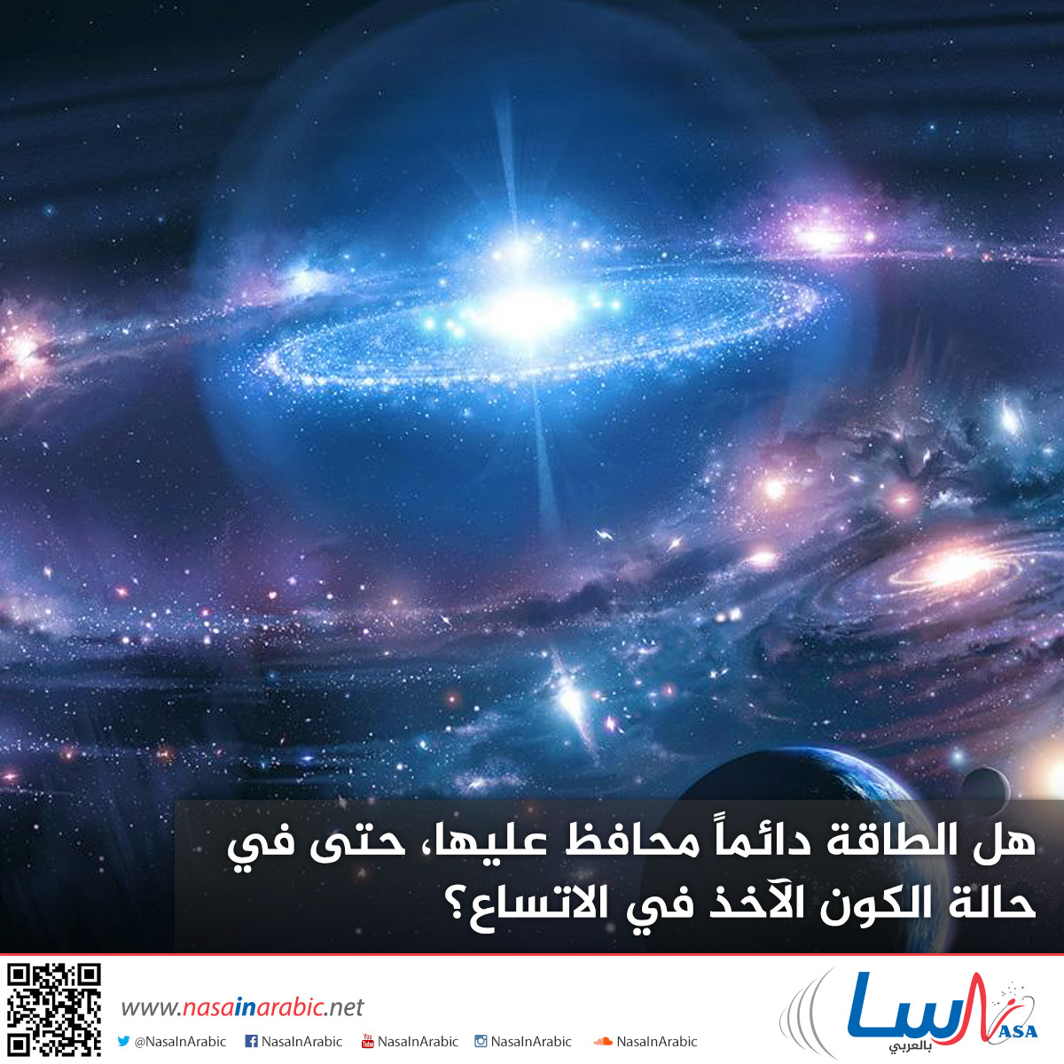 هل الطاقة دائماً محافظ عليها، حتى في حالة الكون الآخذ في الاتساع؟