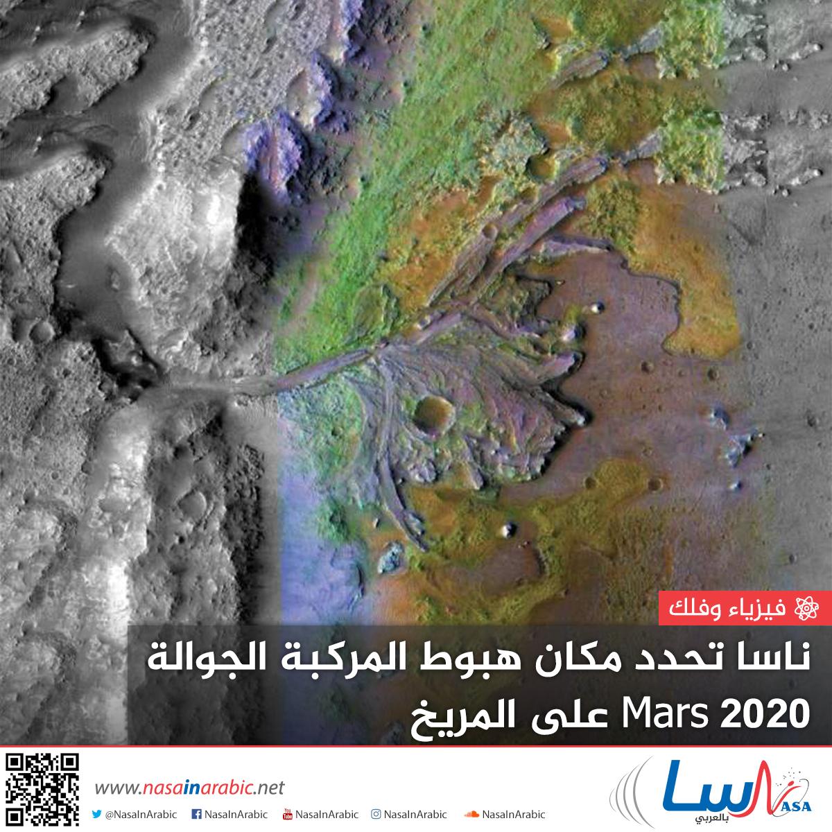 ناسا تحدد مكان هبوط المركبة الجوالة Mars 2020 على المريخ