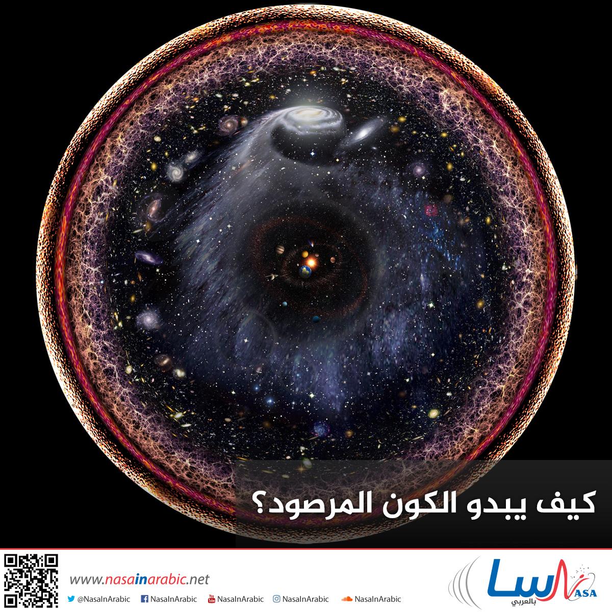 كيف يبدو الكون المرصود؟