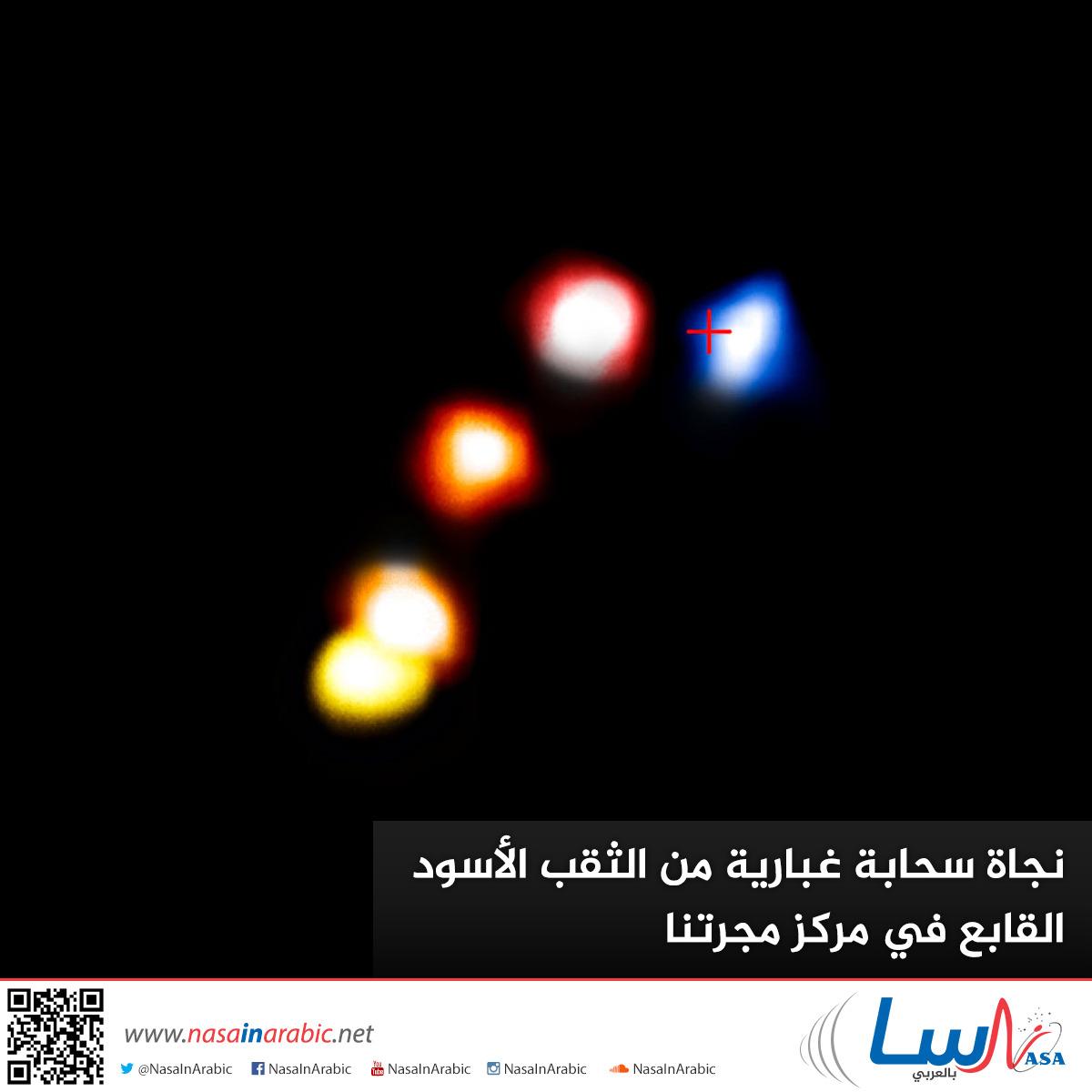 نجاة سحابة غبارية من الثقب الأسود القابع في مركز مجرتنا