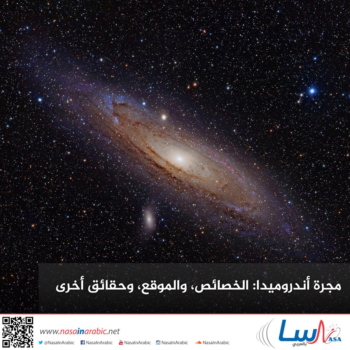 مجرة أندروميدا: الخصائص، والموقع، وحقائق أخرى