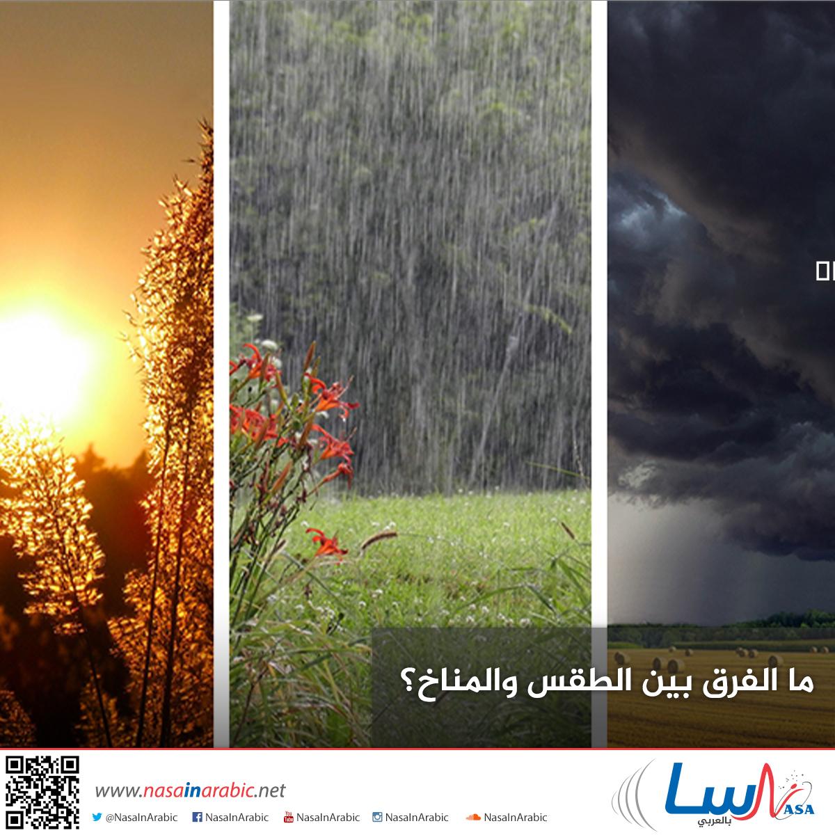 ما الفرق بين الطقس والمناخ؟