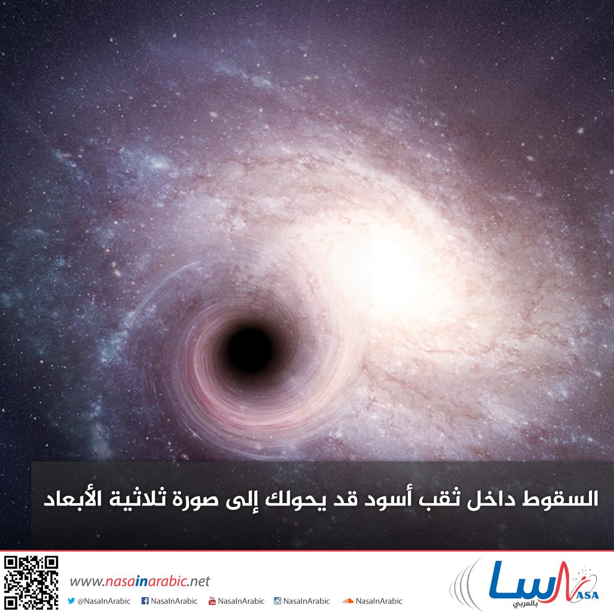 السقوط داخل ثقب أسود قد يحولك إلى صورة ثلاثية الأبعاد