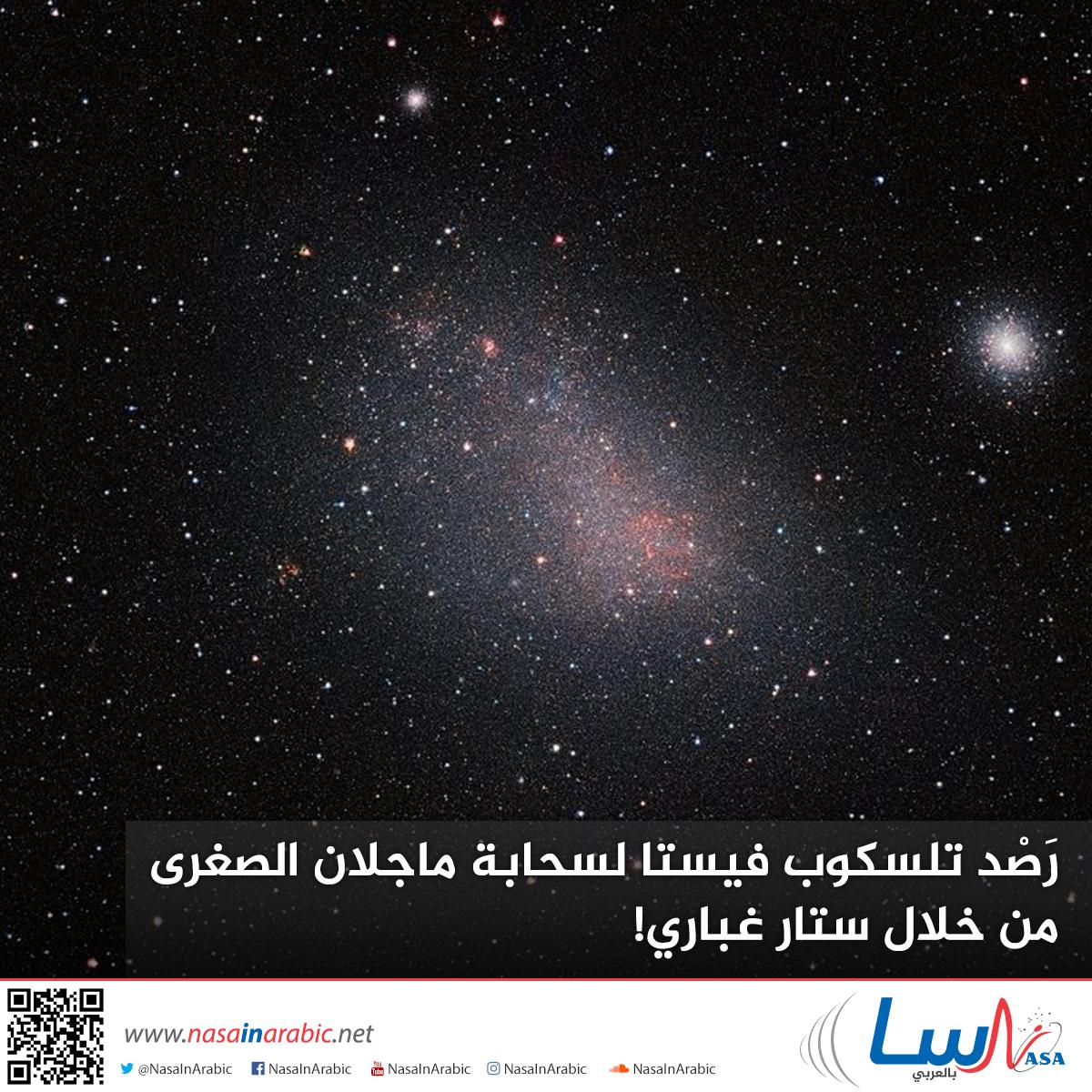 رَصْد تلسكوب فيستا لسحابة ماجلان الصغرى من خلال ستار غباري!