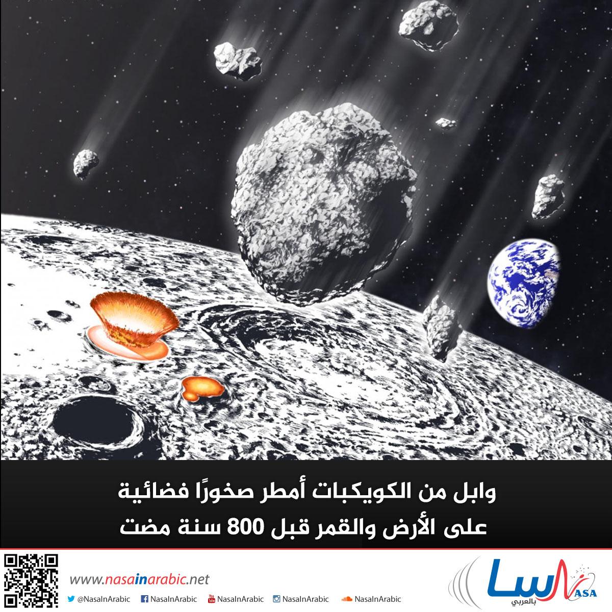 وابل من الكويكبات أمطر صخورًا فضائية على الأرض والقمر قبل 800 مليون سنة مضت
