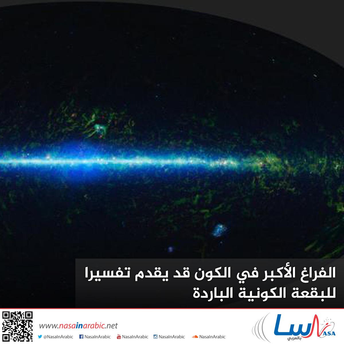 الفراغ الأكبر في الكون قد يقدم تفسيرا للبقعة الكونية الباردة