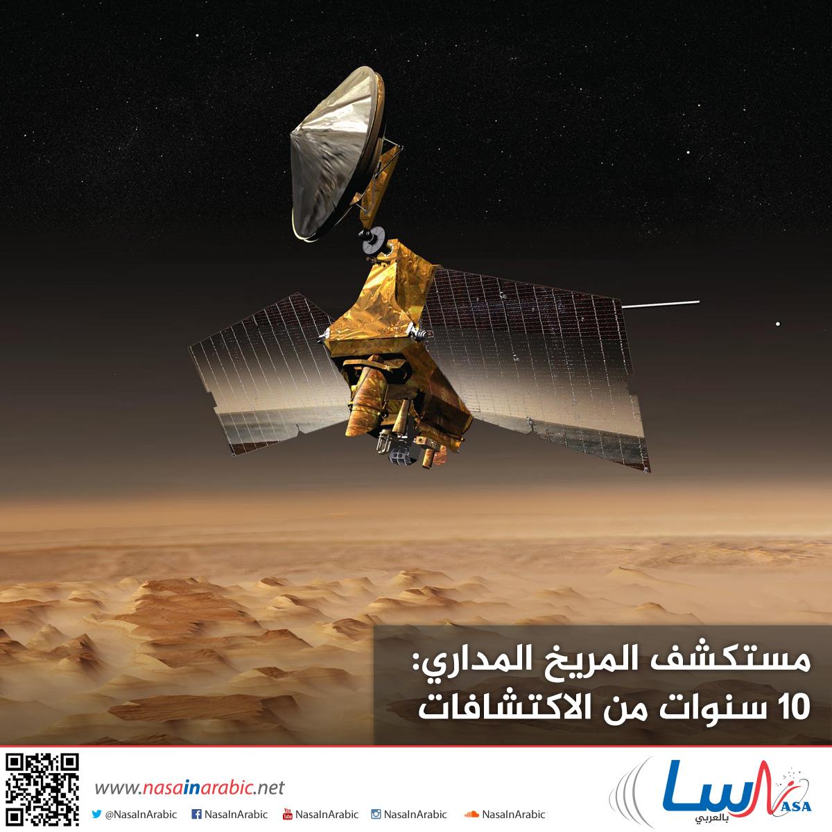 مستكشف المريخ المداري: 10 سنوات من الاكتشافات