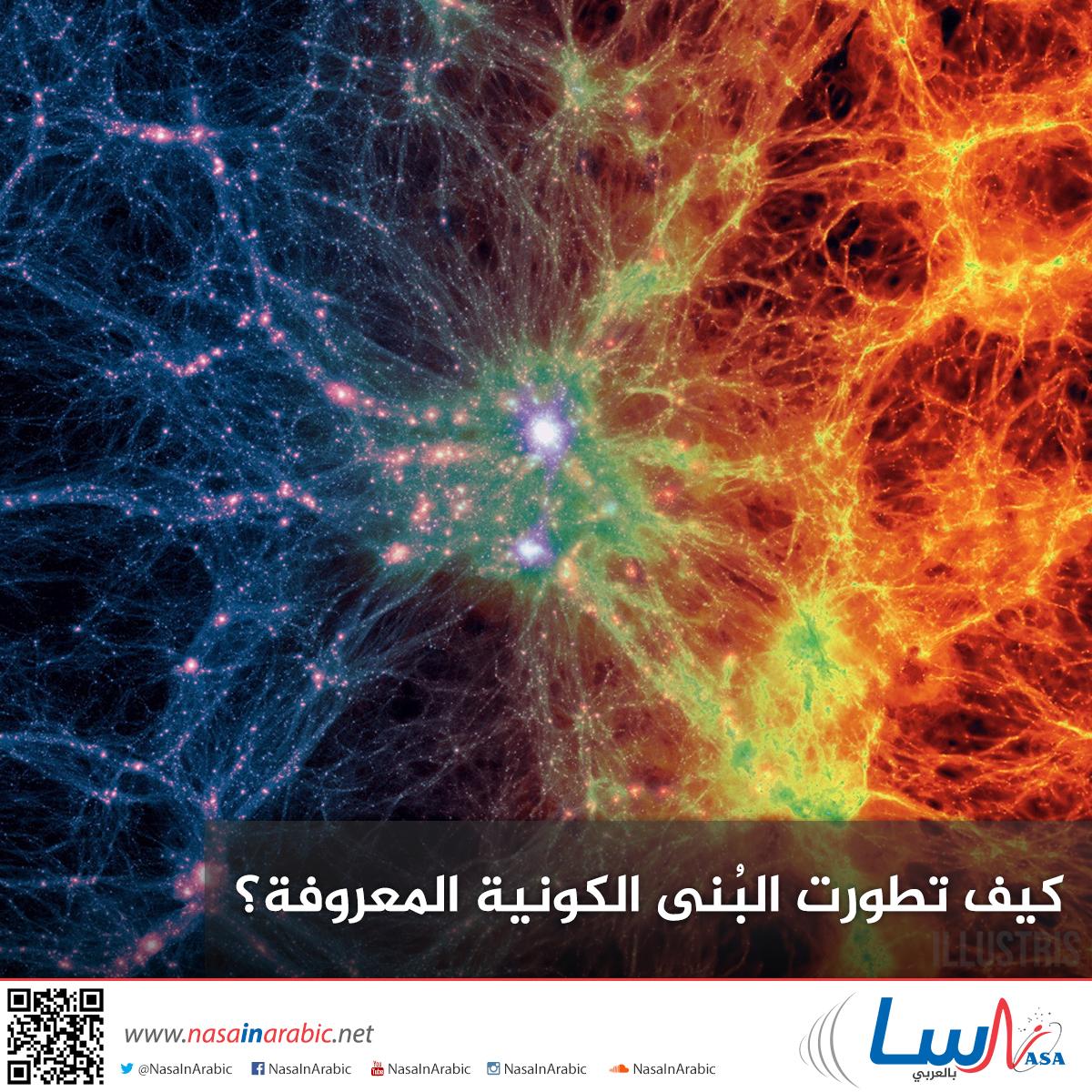 كيف تطورت البُنى الكونية المعروفة؟