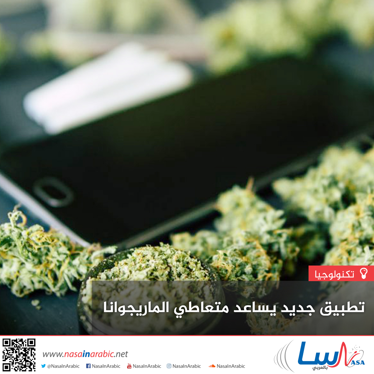 تطبيق جديد يساعد متعاطي الماريجوانا