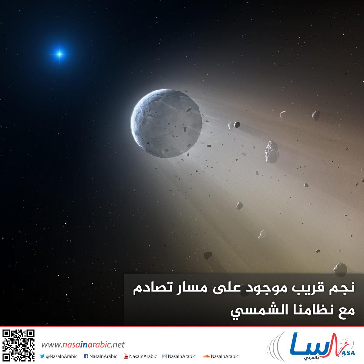 نجم قريب موجود على مسار تصادم مع نظامنا الشمسي