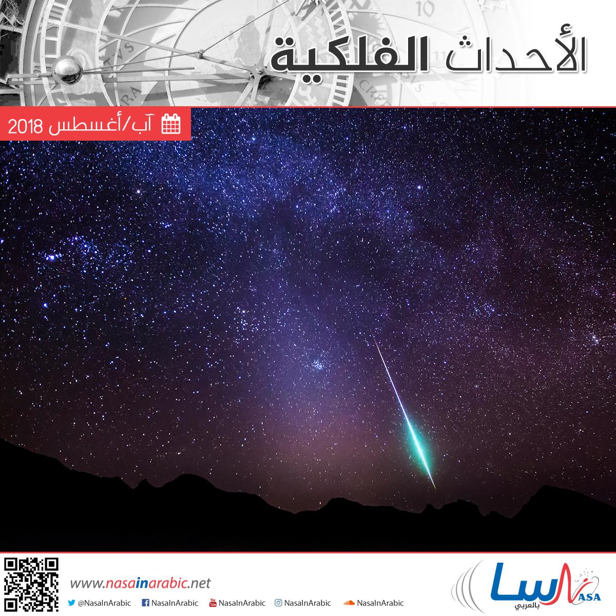 الأحداث الفلكية لشهر آب/أغسطس 2018