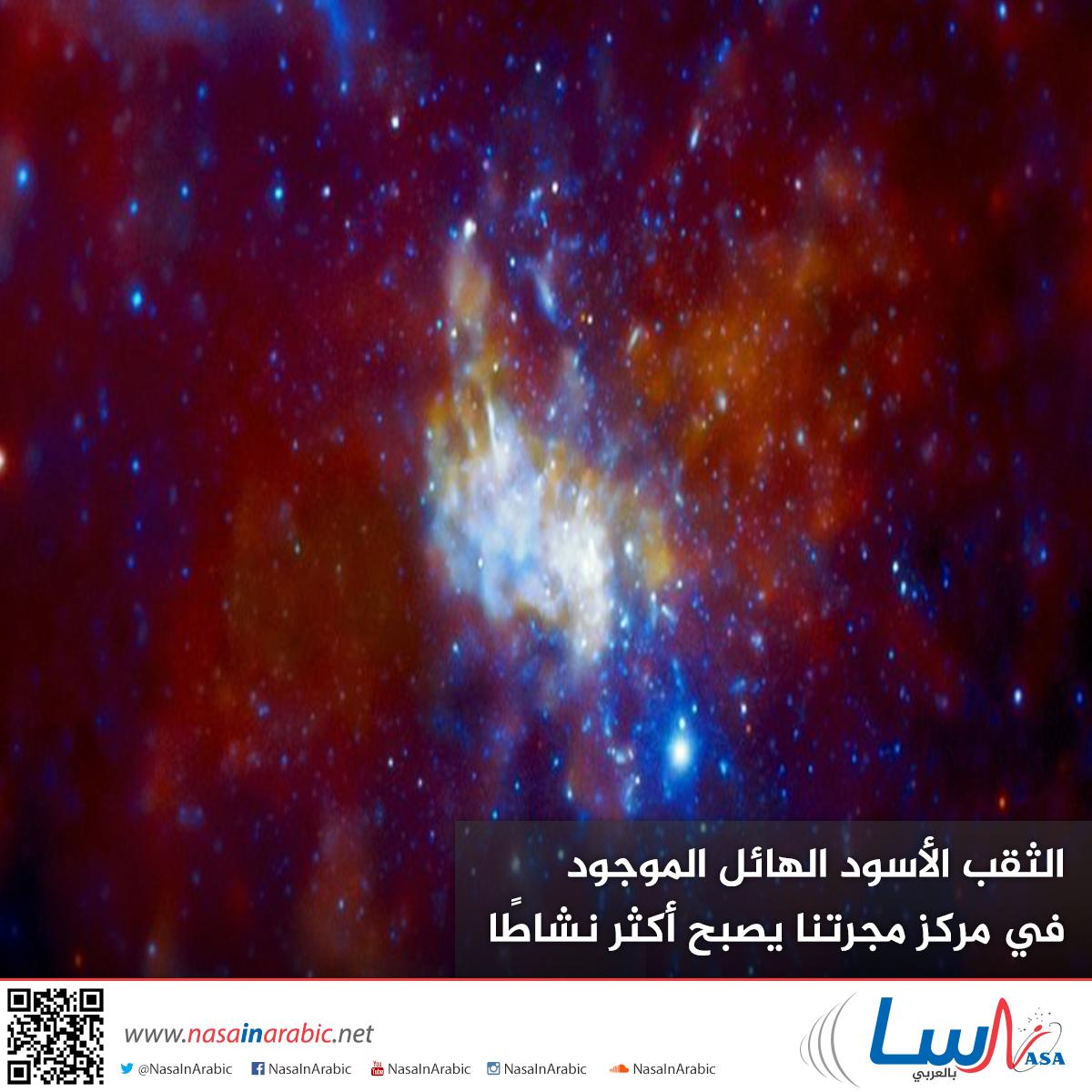 الثقب الأسود الهائل الموجود في مركز مجرتنا يصبح أكثر نشاطًا