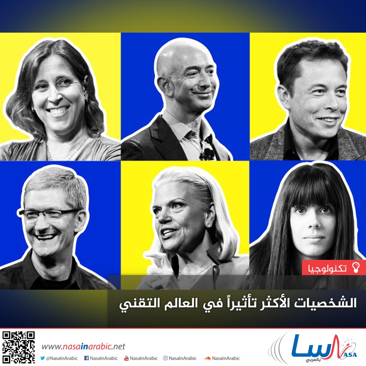 الشخصيات الأكثر تأثيراً في العالم التقني