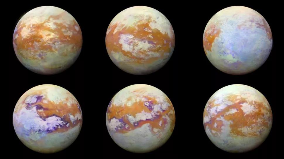 القمر تيتان يحتوي على مادة كيميائية عضوية غريبة في غلافه الجوي