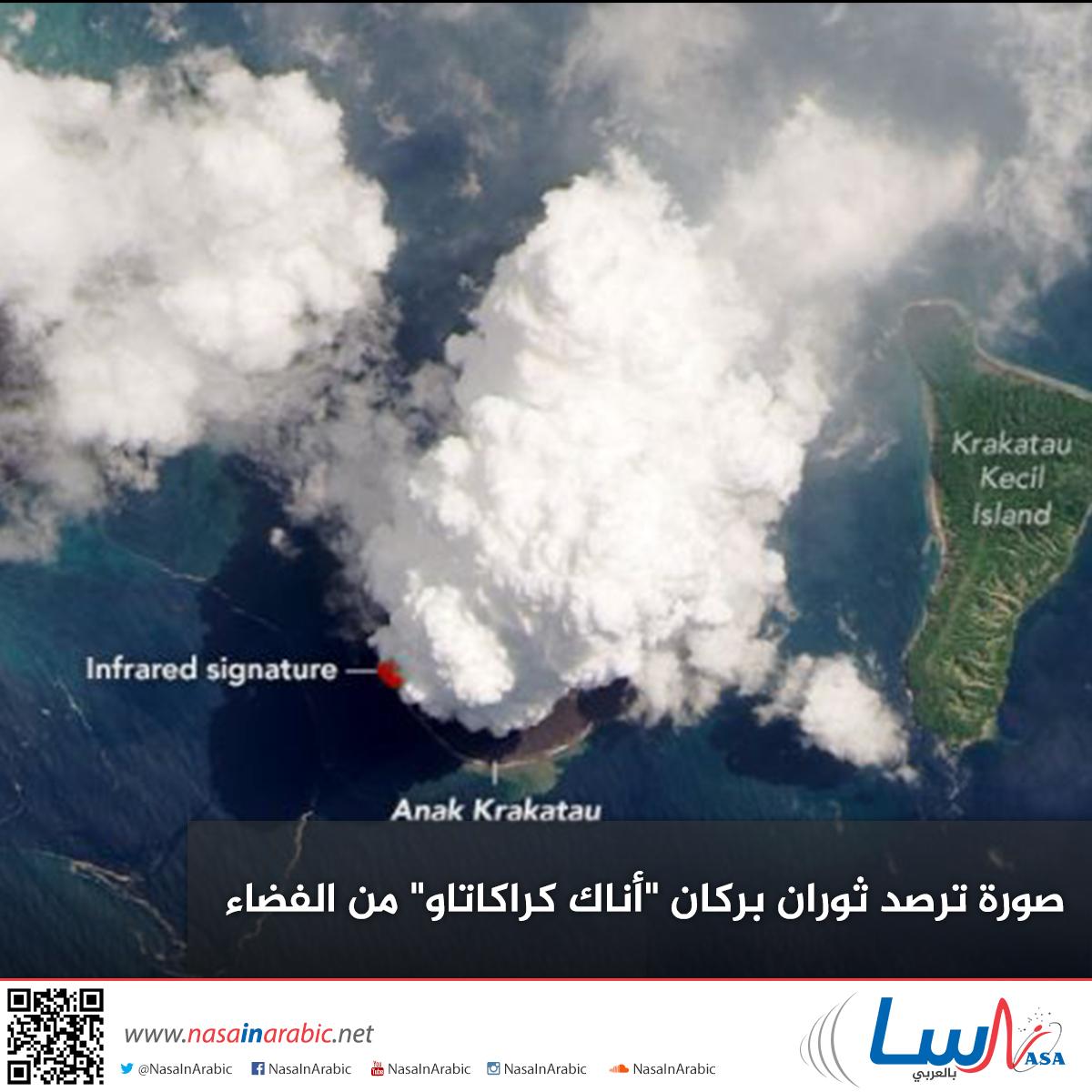 صورة ترصد ثوران بركان