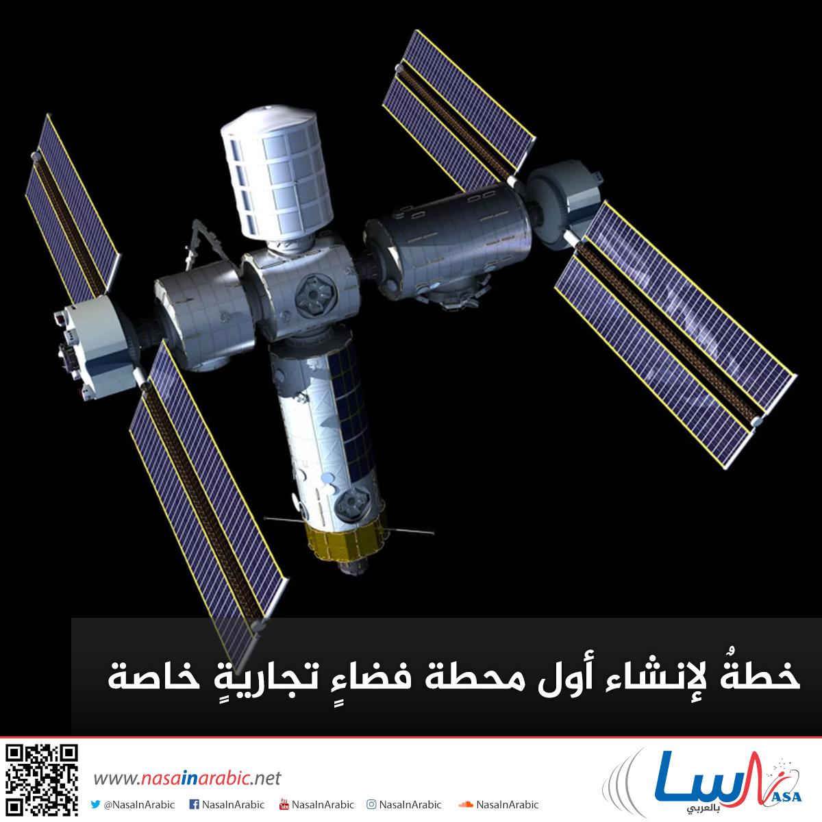 خطةٌ لإنشاء أول محطة فضاءٍ تجاريةٍ خاصة