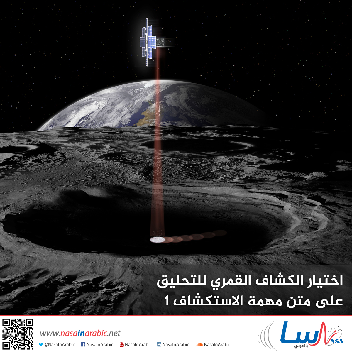 اختيار الكشاف القمري للتحليق على متن مهمة الاستكشاف 1