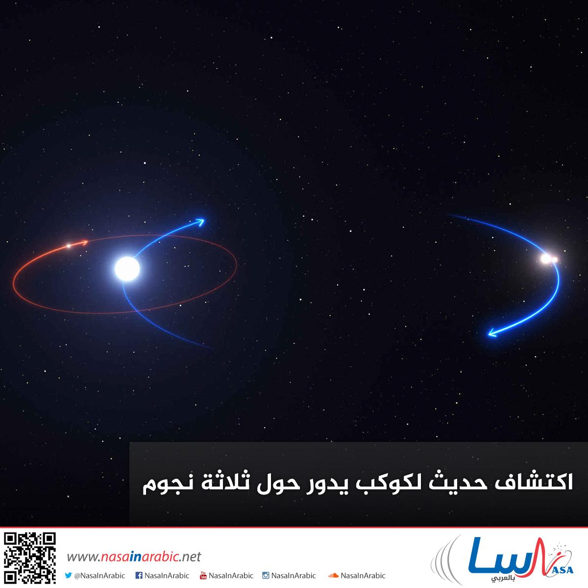 اكتشاف حديث لكوكب يدور حول ثلاثة نجوم
