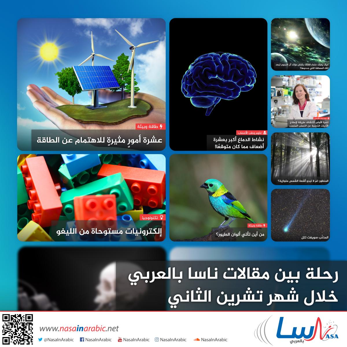 رحلة بين مقالات ناسا بالعربي خلال شهر تشرين الثاني