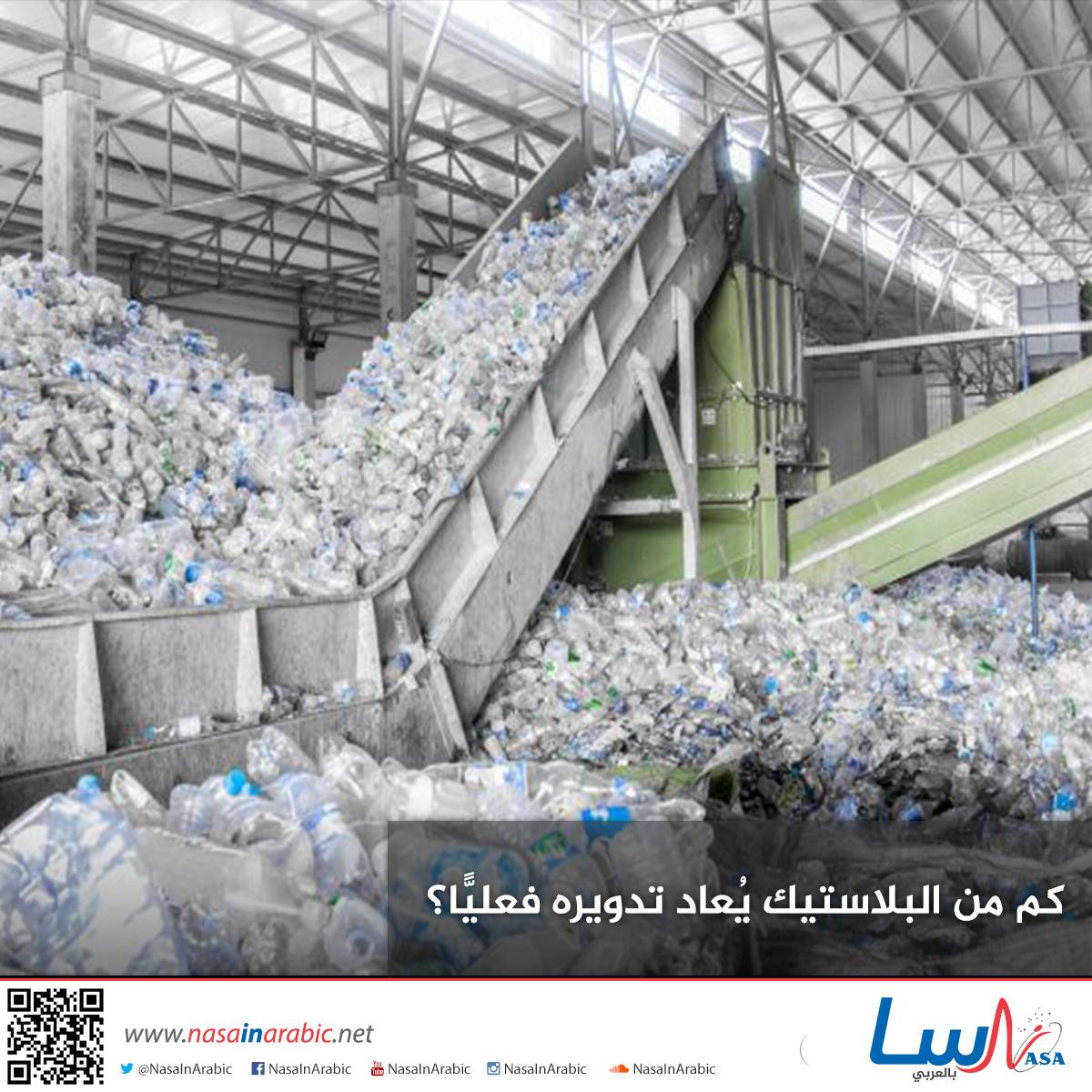 كم من البلاستيك يُعاد تدويره فعليًّا؟