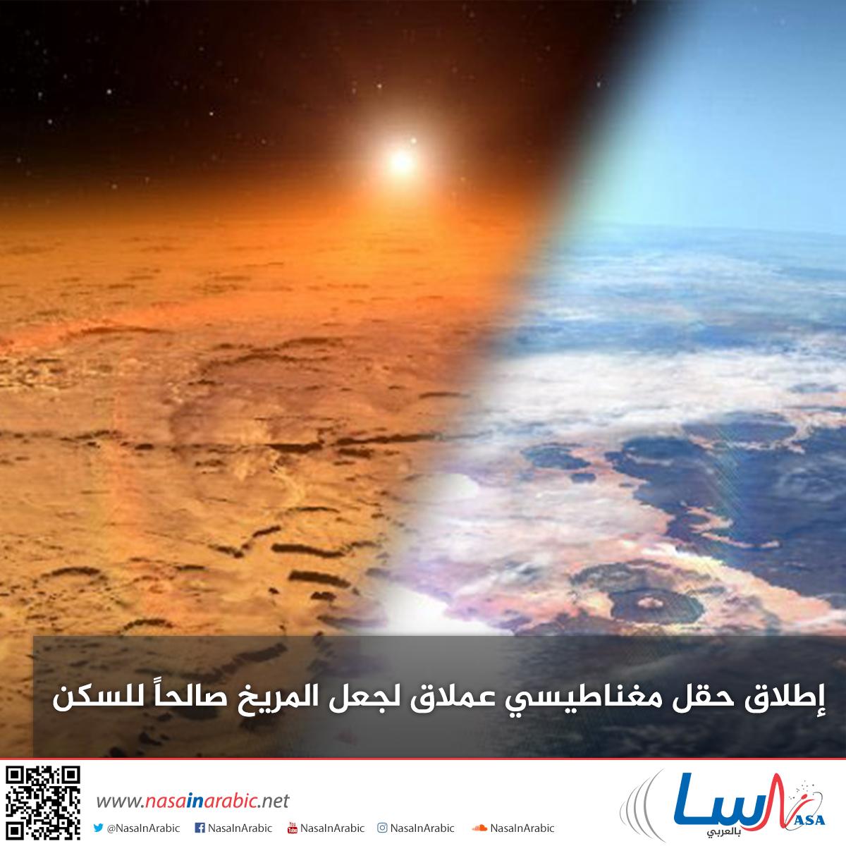 إطلاق حقل مغناطيسي عملاق لجعل المريخ صالحاً للسكن